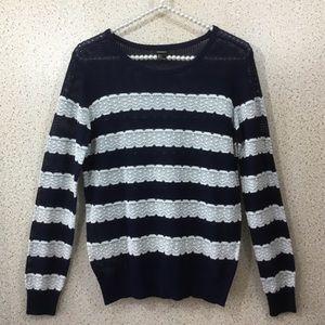 Forever 21 Navy & White Sweater, S